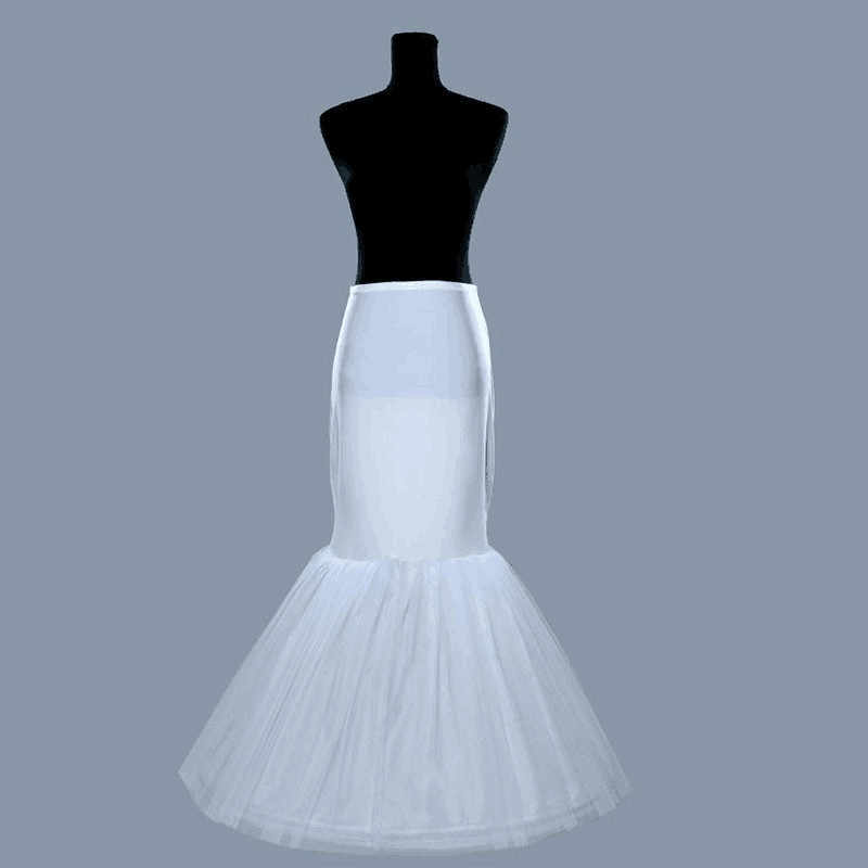 2020 Top Fasion halka dla dziewczynek Vestido De Noiva sukienka biała syrenka Fishtail 1 Hoop krynolinowa halka