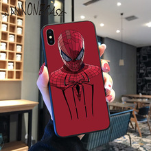 spider man Marvel TPU Soft Silicone Phone Case Cover For iPhone 8 7 6 6S Plus X XS MAX 5 5S SE XR 11 11pro promax Mobile Cases spider man into the spider verse for funda iphone xs max case cover for case iphone 6s plus 5 5s se 6 7 8 plus xr x cases cover