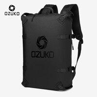 OZUKO Mode Männer Rucksack Outdoor Motorrad Rucksäcke 15,6 zoll Laptop Rucksack Teenager Männlichen Wasserdichte Reisetasche Mochilas