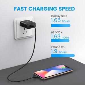 "Image 3 - Ugreen מהיר תשלום 3.0 QC 18W ארה""ב בריטניה USB מטען QC3.0 מהיר מטען עבור סמסונג s10 Xiaomi iPhone Huawei טלפון נייד מטען"