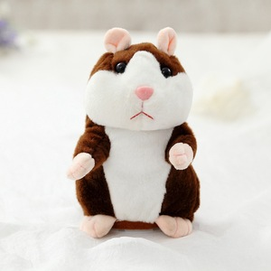 Image 3 - Dropshipping Promotion 15cm Lovely Talking Hamster Speak Talk Sound Record Repeat Stuffed Plush Animal Kawaii Hamster Toys