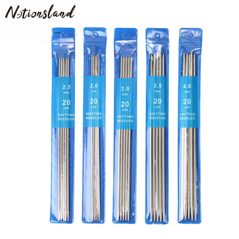 5Pcs/set 20cm Straight Knitting Needles Stainless Steel Crochet Hook DIY Sweater Weave Tools Size 2-4mm - discount item  30% OFF Arts,Crafts & Sewing