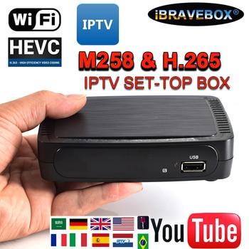 цена на iBRAVEBOX M258 TV Receiver Satellite Internet Digital Set Top Box IPTV Receiver Decoder Full HD 1080P 4K TV Box with USBWifi