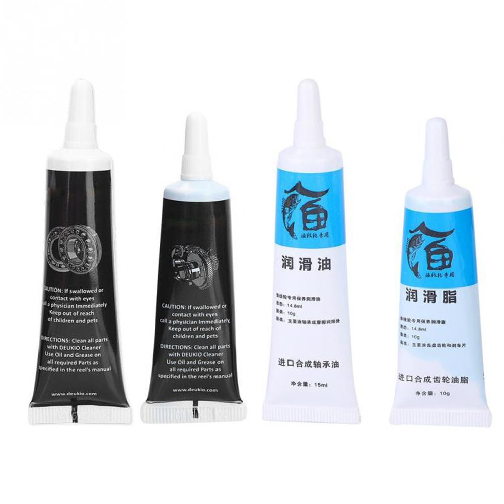 DEUKIO 2pcs Fishing Reel Special Lubricant Oil Fishing Metal Sprocket Bearing  Fishing Accessories