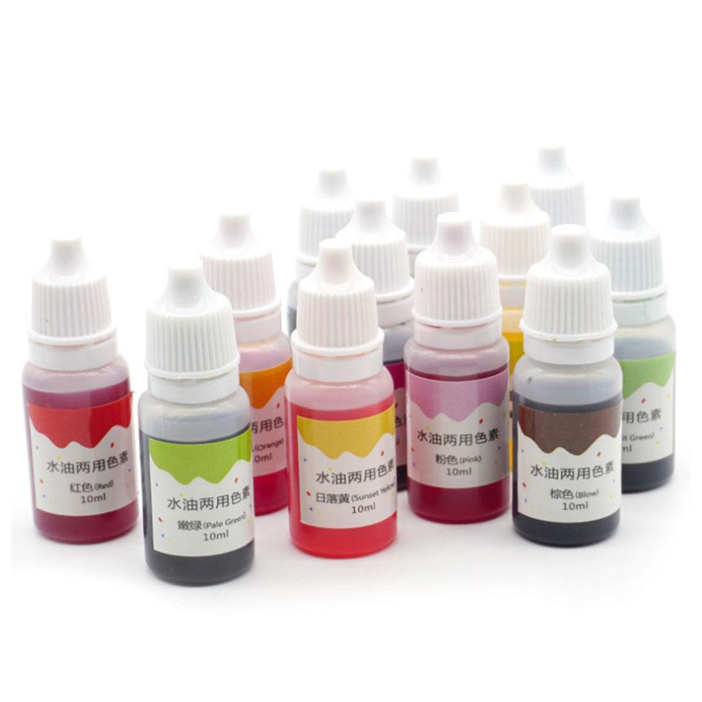 Skin Safe 10ml DIY Non-toxic Handmade Soap Vibrant Color Liquid Colorant Dye Pigments Multi-purpose Coloring Dye Tool 13 Colors