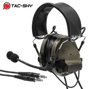 Image 3 - COMTAC TAC SKY comtac iii סיליקון מחממי אוזני כפול לעבור גרסה הפחתת רעש טנדר צבאי ירי טקטי headsetFG
