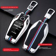 Samochód w pełni etui na klucze wyświetlacz LED klucz skrzynki pokrywa dla BMW 5 7 serii G11 G12 G30 G31 G32 i8 I12 I15 G01 X3 G02 X4 G05 X5 G07 X7