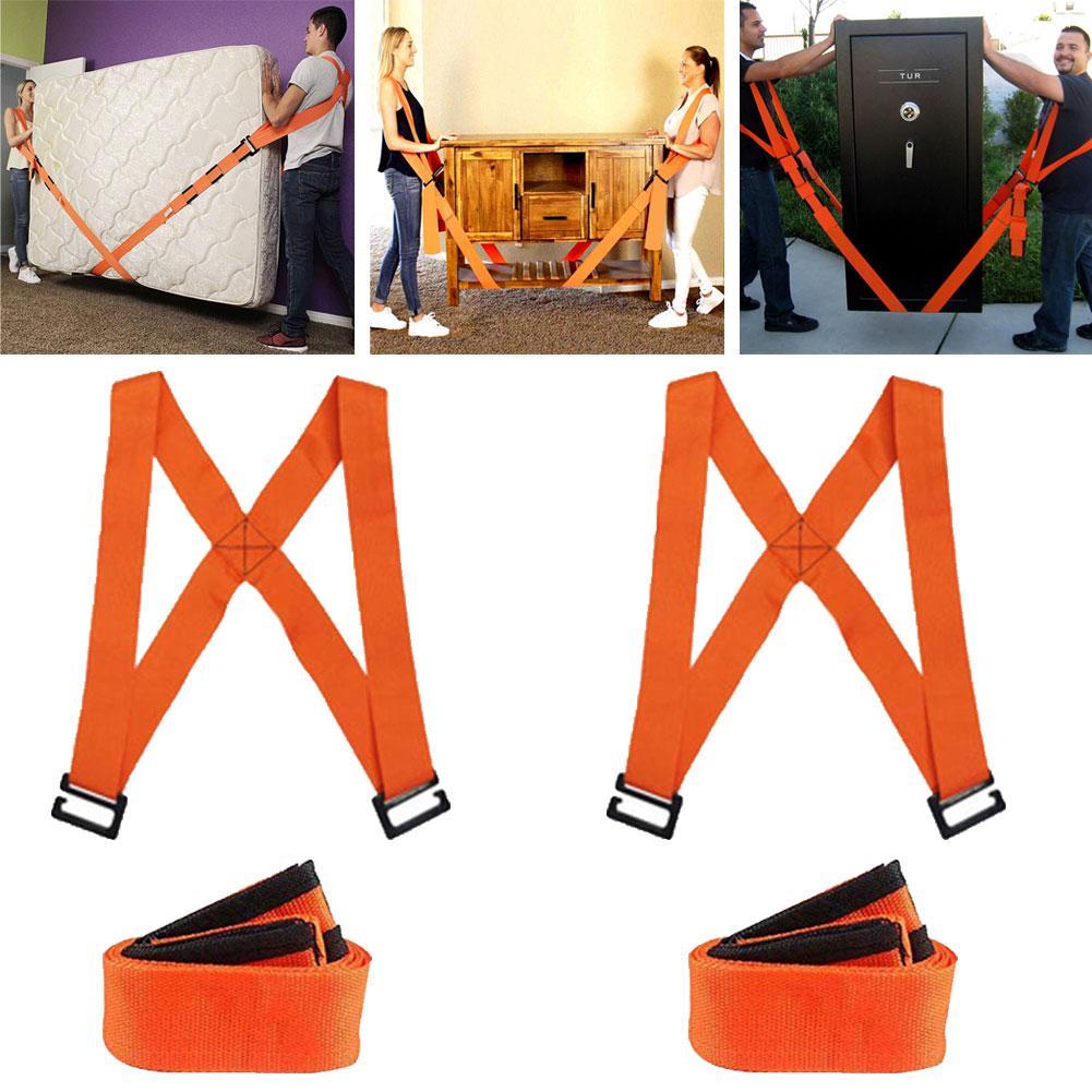 2Pcs Labor-saving Furniture Moving Shoulder Back Straps Ropes Forklift Lifting Moving Strap Transport Belt Wrist Straps