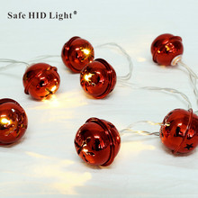 LED Christmas Fairy Light String Lights Indoor Home Decoration Butterfly Bell Moon  Shape Battery Operated D40