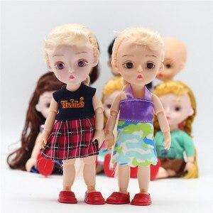1/12 15 см BJD куклы платье одежда 13 совместных DIY Прекрасный BJD принцесса куклы модное платье костюм девушки одеваются куклы аксессуары