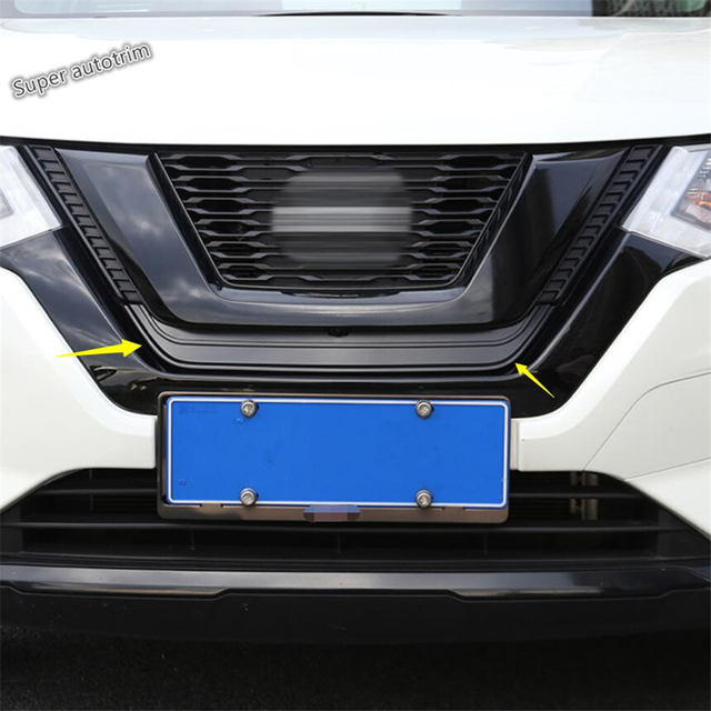 Lapetus Front Grille Insect Net Insect-proof Leaves Cover Trim Fit For Nissan Rogue T32 X-Trail 2017 - 2020 Accessories Exterior 2