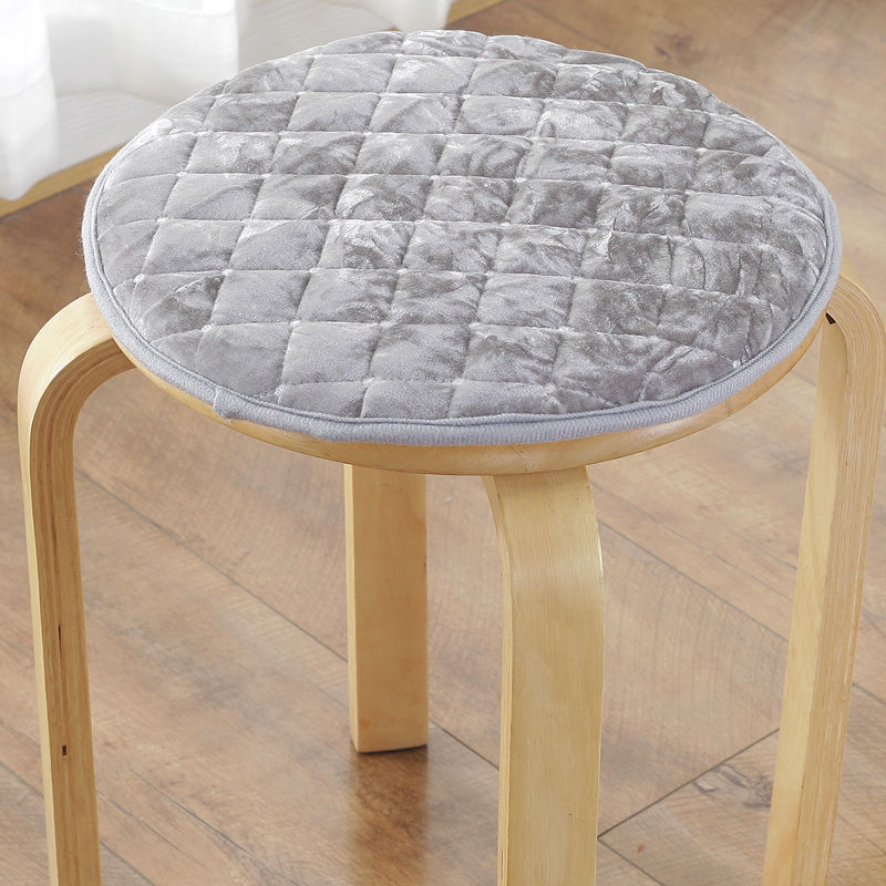 Anti-slip Student Chair Cushion Office Chair Pad Tie On Dining Seat Cushion Round Velvet Stool Pad 6 Sizes Soft Floor Sit Pillow