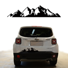 free shipping 1PC 647*142mm mountains graphic Vinyl car sticker for pickup suv bed side car back door accessories decals free shipping 1pc rivet spiked studded american staffordshire terrier graphic vinyl car stickers for suv pickup door rear window