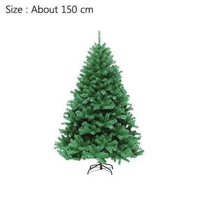 Strongwell 45/60/90/120 см Шифрование зеленое дерево мини искусственная Рождественская елка украшения светодиодное Рождественское украшение Декор - Цвет: 150cm