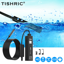TISHRIC IP68 Waterproof Endoscopic Camera For Android IOS PC Wifi Endoscope Camera HD