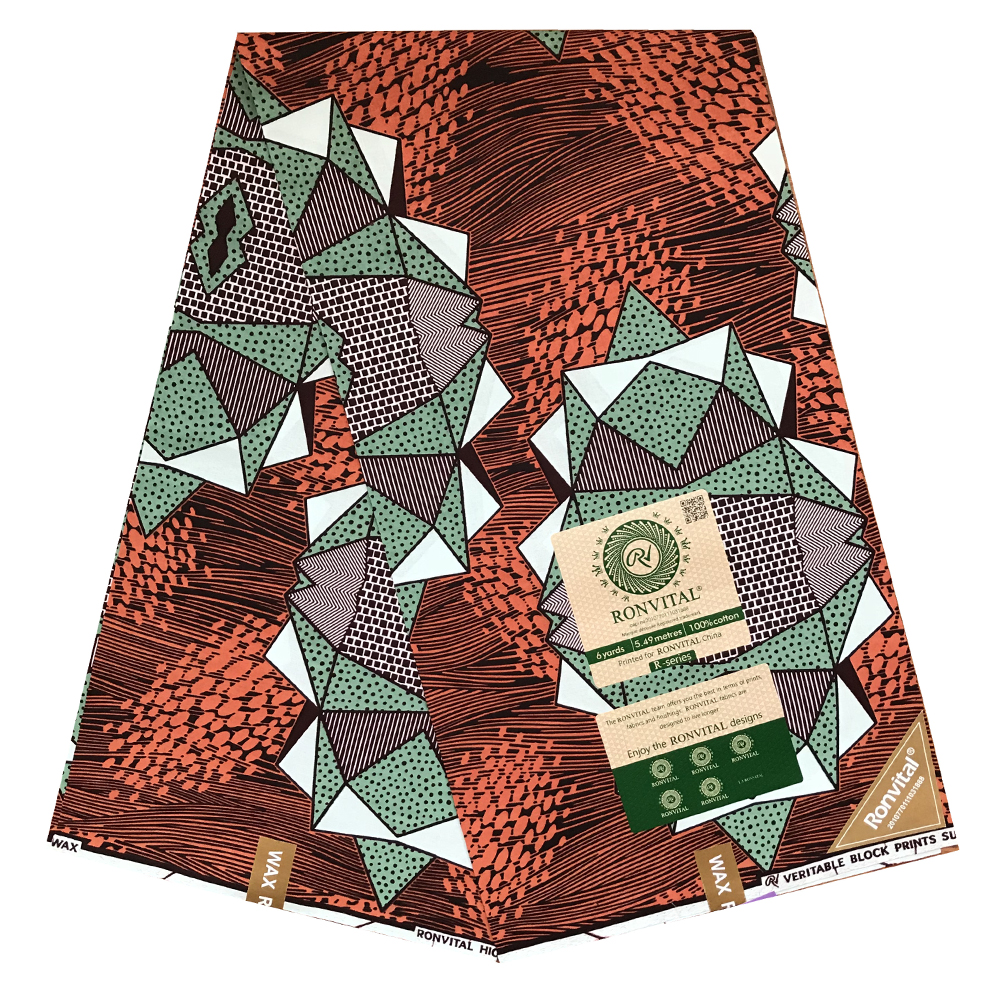 High Quality African Prints Fabric Veritable Dutch Wax Real Veritable Wax Nigerian Style For Women Dress 6yards/pcs 100% Cotton