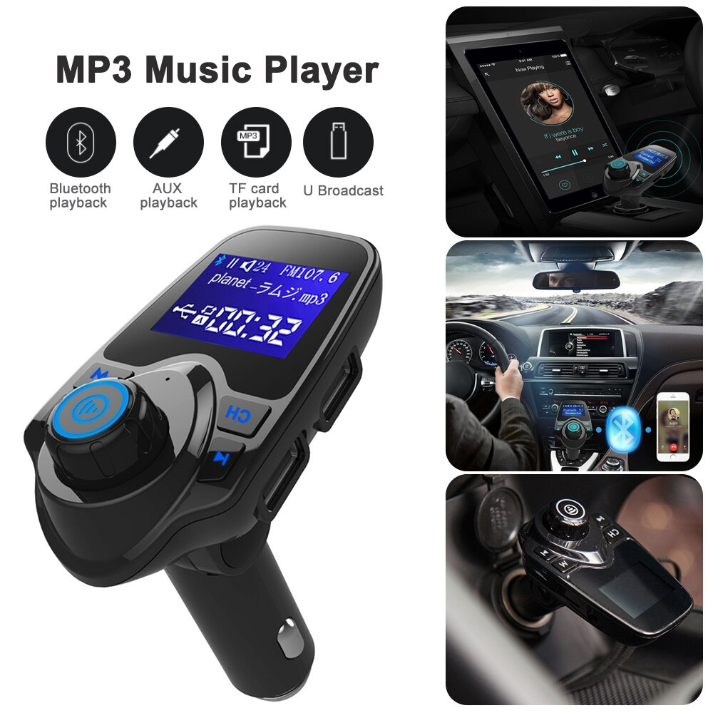 Car Fm Transmitter Bluetooth Car Modulator Wireless Mp3 Player Handsfree Car Kit