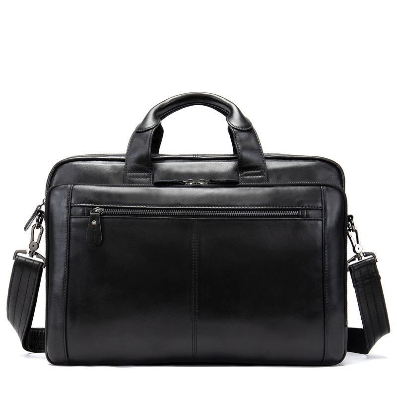 Business Affairs Capacity Handbag Man Single Shoulder Male Package Genuine Messenger Computer Bag Men Leather Laptop Briefcase