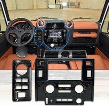 Auto styling Tuning Innen Teile Doppel Din Fascia Kit für Land Rover Defender glänzend schwarz matt schwarz CARBON LOOK