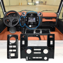 Fascia-Kit Defender Land-Rover Car-Styling Double-Din for Glossy Black Matt Carbon-Look