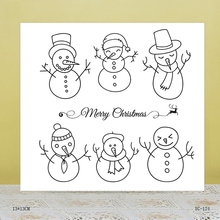 ZhuoAng Hat snowman Transparent seal / sealed DIY scrapbook / album decoration card / seamless seal