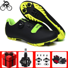 Self-locking cycling shoes sapatilha ciclismo mtb men mountain bike bicycle sneakers professional athletic breathable shoes santic cycling shoes men 2018 self locking mountain bike shoes pro bicycle shoes athletic sneakers zapatillas ciclismo black