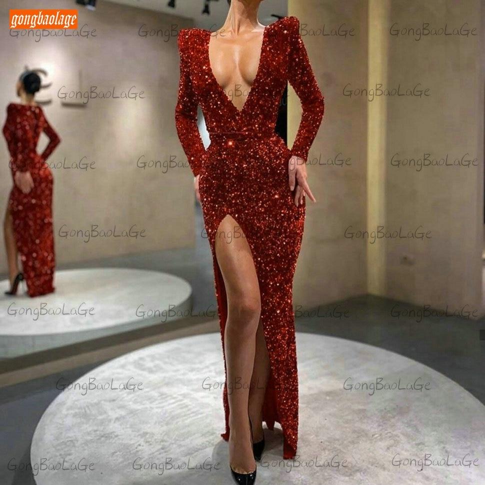 Black Mermaid Evening Gown Sexy Slim Fit Custom Made Women Evening Dresses