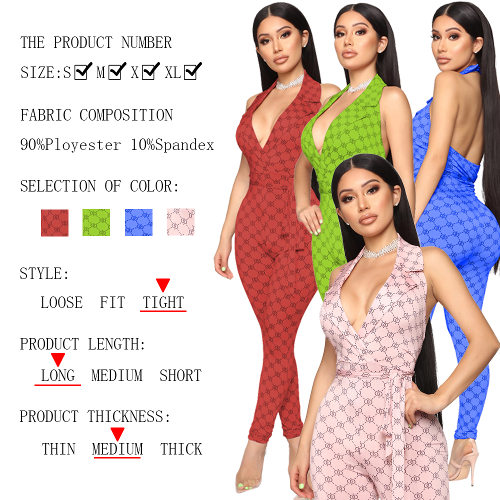 Hbd28e487a0bb4dc09e2732d5bf22eafde - Zoctuo Summer Autumn Rompers Womens Jumpsuit Plaid Sexy Halter Temperament commute Middle Waist Tight with Belt  Jumpsuit