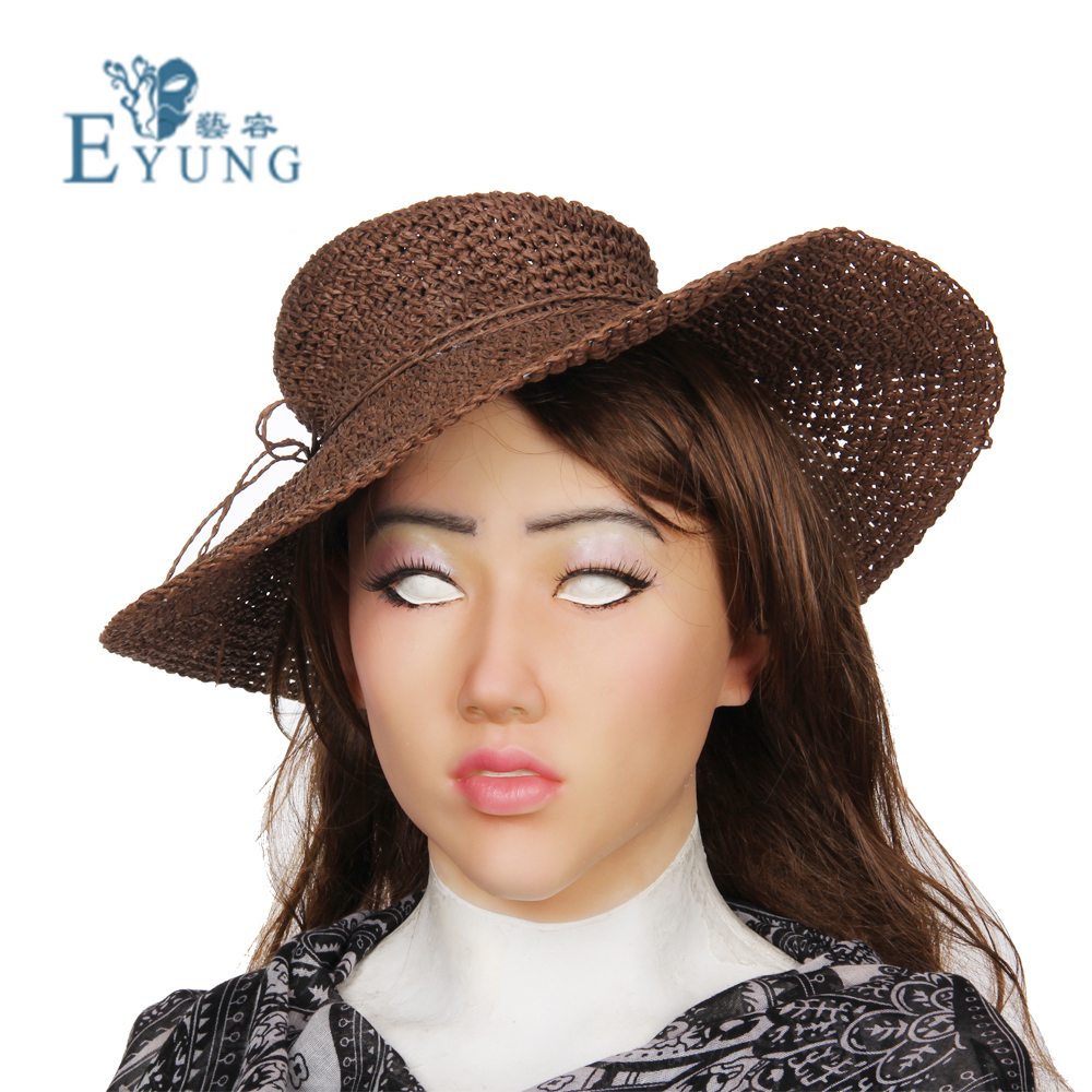 EYUNG goddess Shivell Top quality masquerade for crossdresser silicone female masks, realistic mask for halloween,drag queen