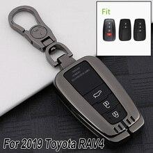 Чехол для автомобильного ключа Toyota RAV4 2019, черный устойчивый к царапинам чехол, умный чехол с цепочкой, Новинка