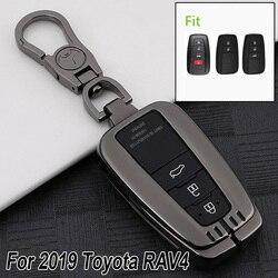 Para toyota rav4 2019 caso chave do carro preto scratch-resistente escudo corrente de cobertura inteligente novo