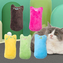 Teeth Grinding Catnip Toys Interactive Plush Cat Toy Pet Kitten Chewing Vocal Toy Claws Thumb Bite Cat mint For Cats products