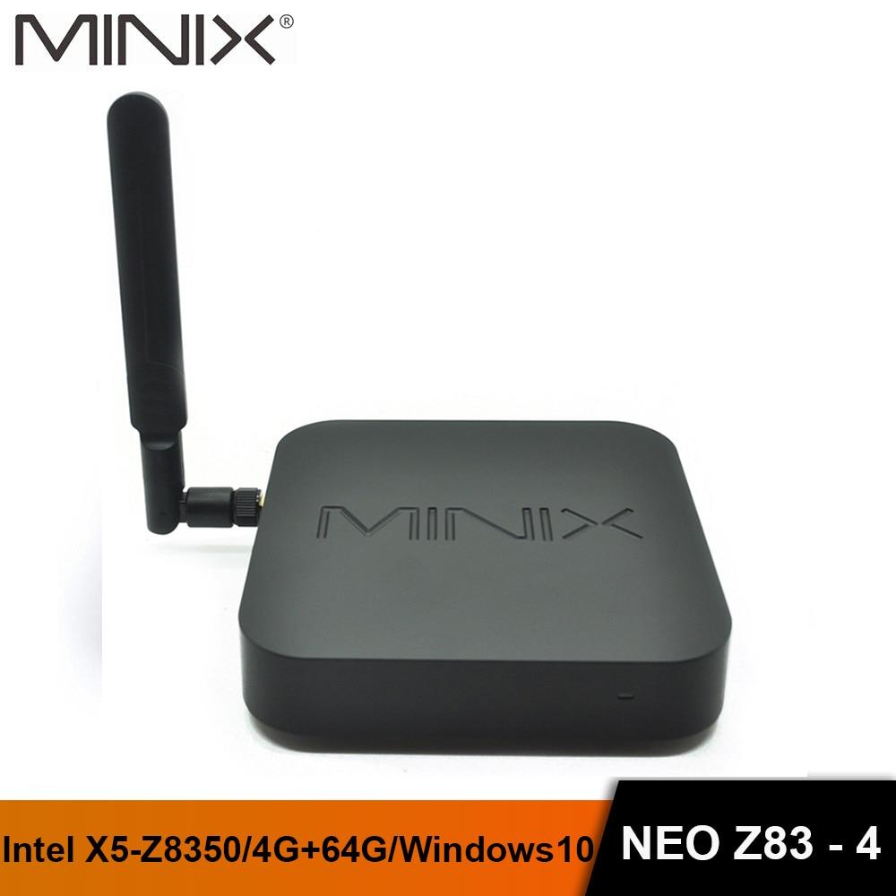MINIX NEO Z83-4 MINI PC Gigabit 802.11AC Dual-Band WIFI Official Windows10(64-bit) Inte X5-Z8350 Cherry Fanless Atom MINI PC