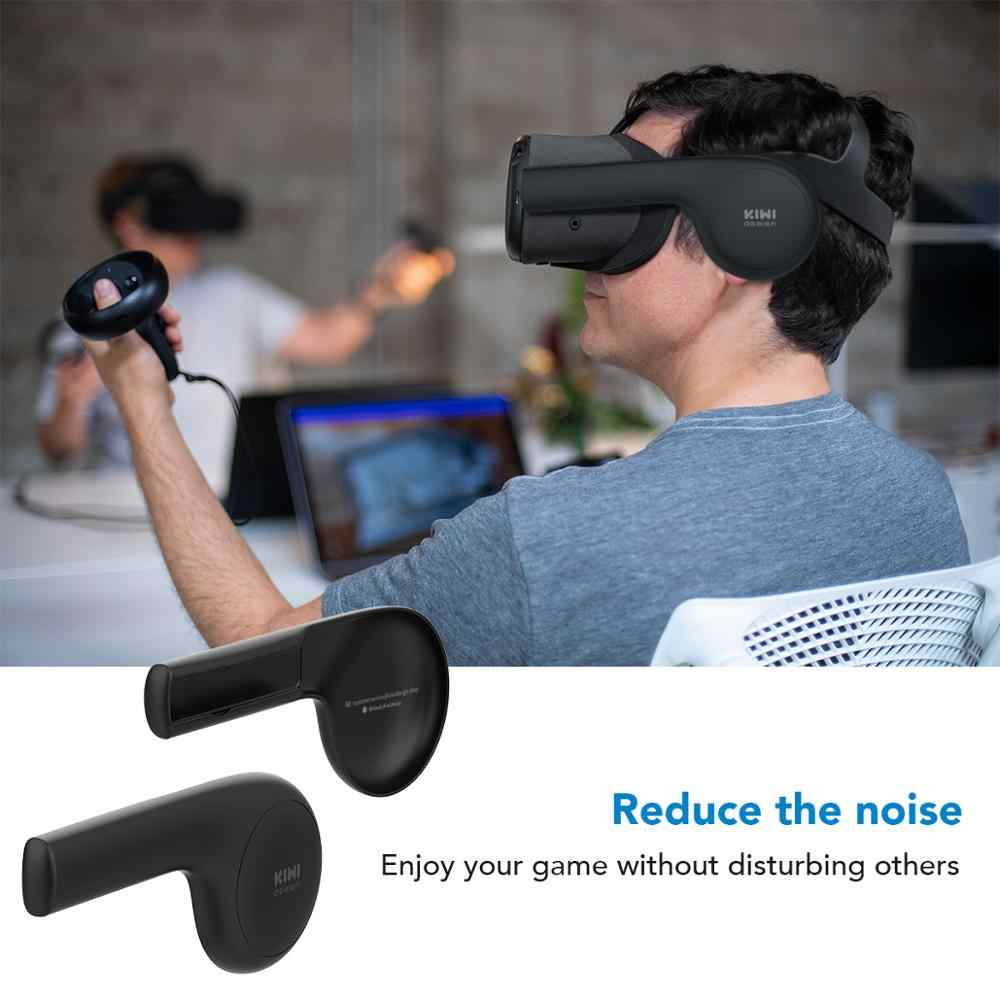 Kivi tasarım silikon kulak muffs Oculus görev VR kulaklık, bir artırıcı ses çözümü Oculus Quest (siyah, 1 çift)