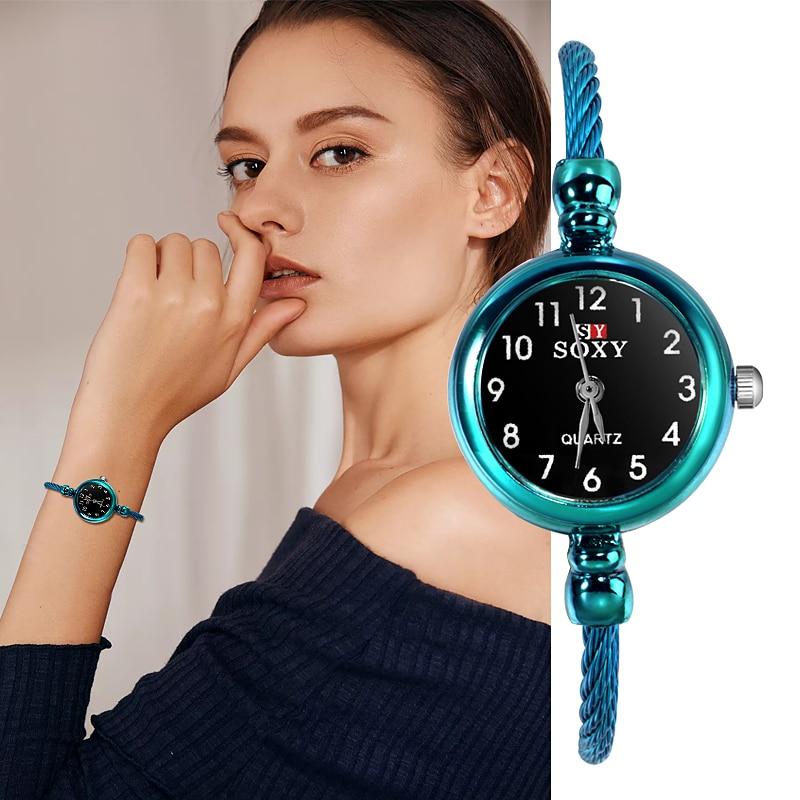 Relogio Feminino SOXY Fashion Women's Bangle Bracelet Watches Luxury Ladies Watch Classic Arabic Digital Design Female Clock