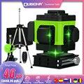 CLUBIONA IE12A Drahtlose Fernbedienung 3D Green Laser Level 360 Grad 12 Linien Mit Li-Ion Batterie Boden Lift und Wand halterung