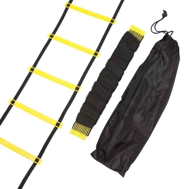 トレーニングはしご敏捷スピードラダー階段ナイロンストラップ敏捷サッカーサッカーサッカーサッカースピードはしごフィットネス機器