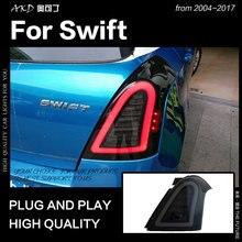 AKD автомобильный Стайлинг для Suzuki Swift задние фонари 2004- Swift светодиодный задний фонарь дневные ходовые огни тормоза Обратный Авто аксессуары