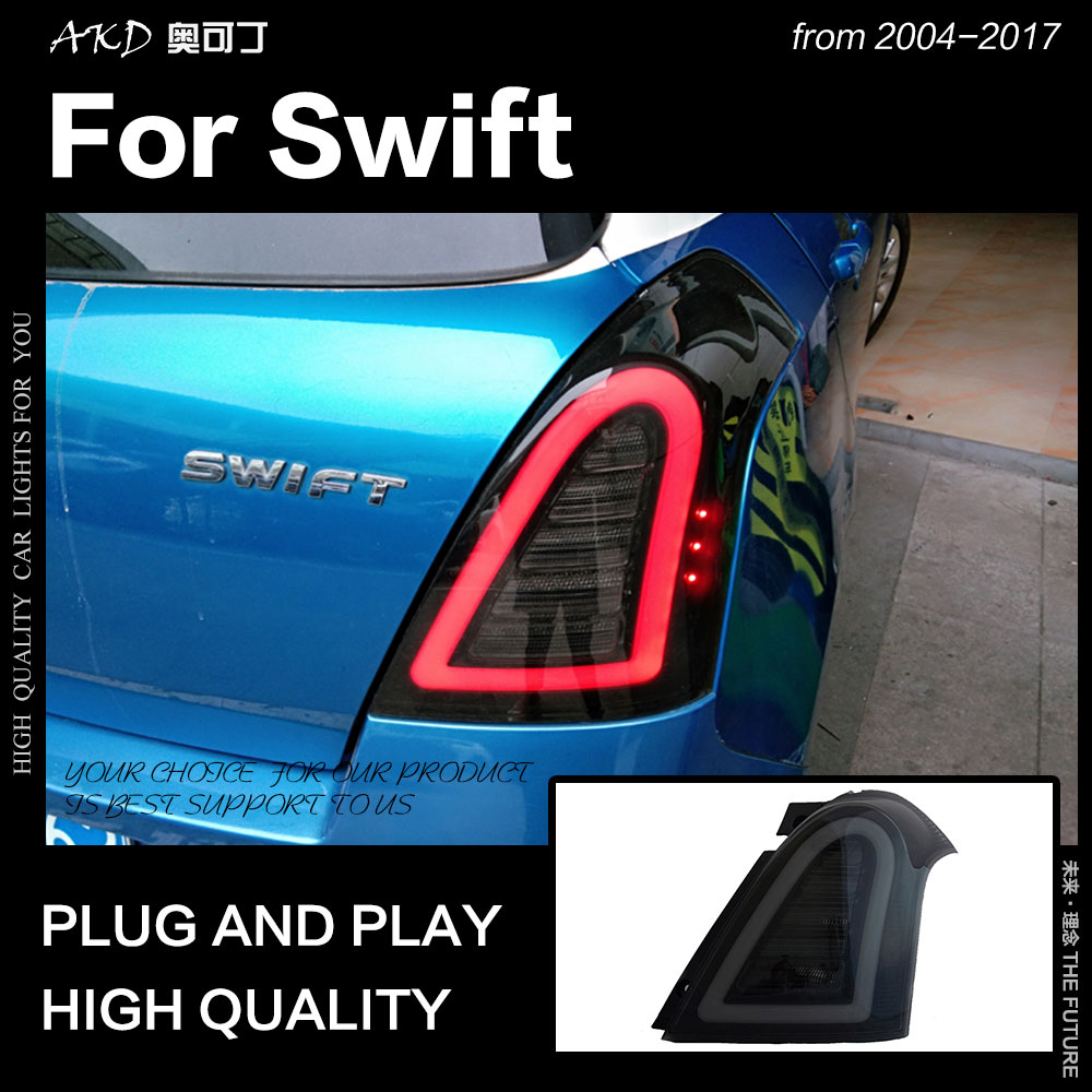 AKD Car Styling for Suzuki Swift Tail Lights 2004 2017 Swift LED Tail Light Rear Lamp DRL Signal Brake Reverse auto Accessories