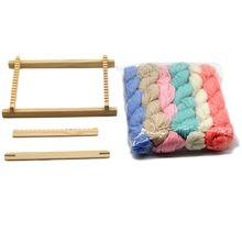Wood Knitting Weaving Loom Tapestry Yarn Kit Handloom Machine DIY Handmade Tool for Beginners Children Adults Parent-child