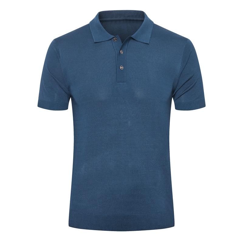 Billionaire polo shirt silk men 2021 New Fashion Casual short sleeve high-quality button elasticit Embroidery big size M-4XL