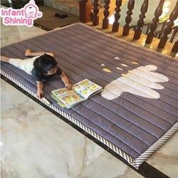 Infant Glänzende Baby Spielen Matte Baumwolle Playmat für Kind 2cm Dicke Non-slip Teppich 140*200cm kinder Spiel Teppich Maschine Waschbar