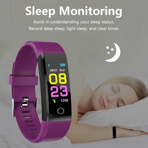 Image 2 - 115 mais inteligente pulseira de pressão arterial, relógio fitness rastreador freqüência cardíaca banda inteligente atividade rastreador pulseira