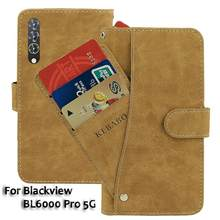 Vintage deri cüzdan Blackview BL6000 Pro 5G durumda 6.36