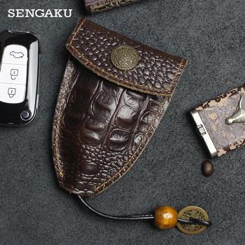 Przenośne prawdziwej skórzany na klucze uchwyt Handmade Pull-typ samochodu pojemnik na klucze wyjątkowy rzeźbiony projekt brelok na klucze etui na klucze brelok tanie i dobre opinie SENGAKU CN (pochodzenie) GENUINE LEATHER Skóra bydlęca Unisex 11 5cm F088 Na co dzień poduszka Cow Leather Floral put 5-6 Household key