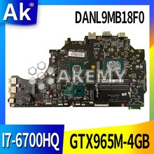 DANL9MB18F0 Laptop motherboard for ThundeRobot 911M original mainboard I7-6700HQ GTX965M-4GB(China)