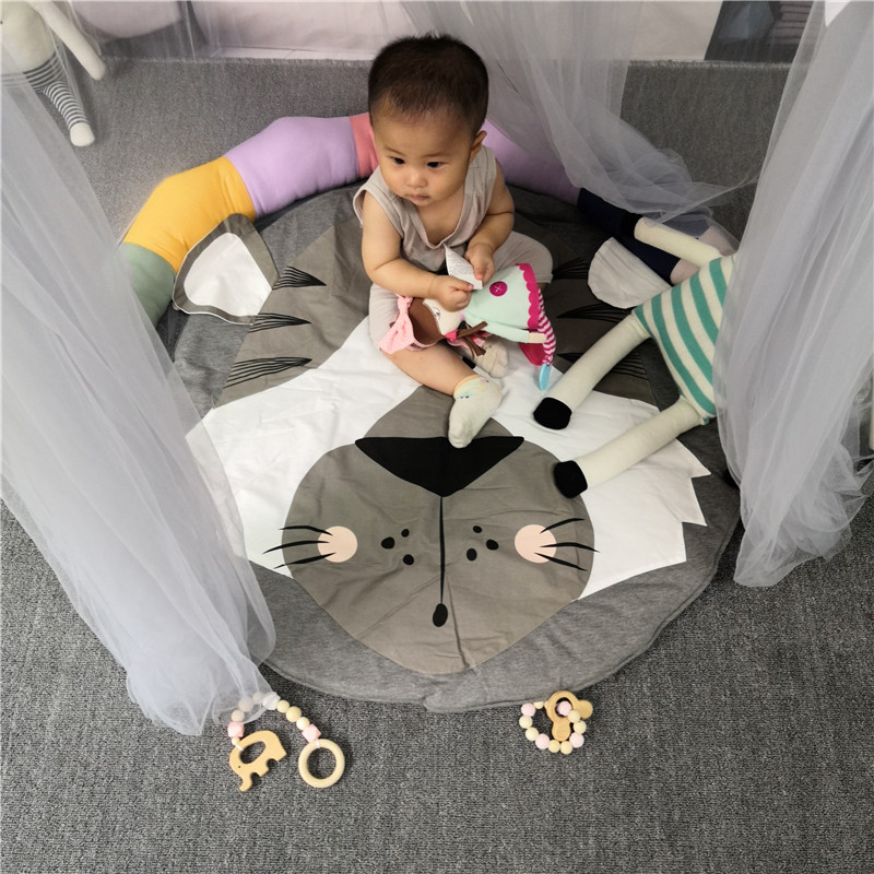 Hbd2a95052550430e8c3ddcace1f73930Q Child Play Mats kids animal Crawling Carpet Floor Rug Baby soft cotton sleeping Game rugs Children Room Decor Photo Props 90CM