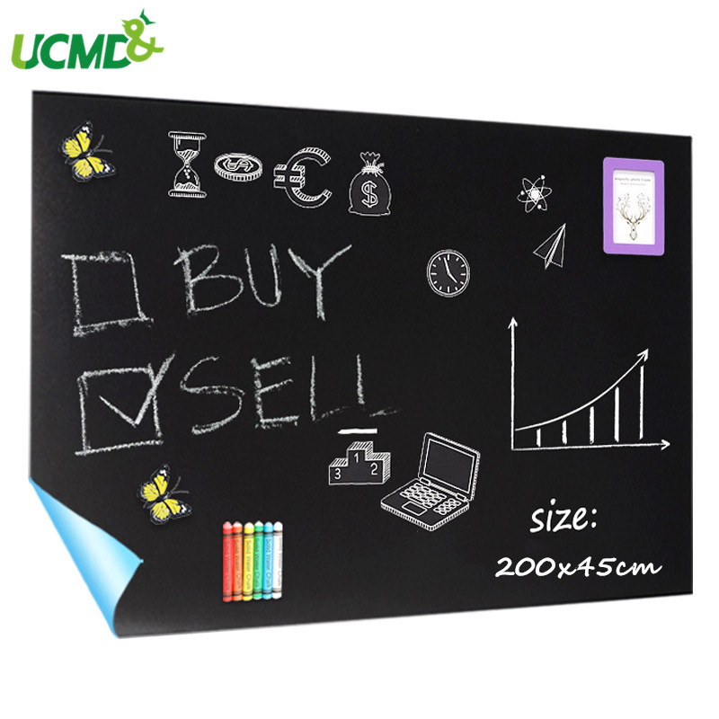 200x45cm Hold Magnets Blackboard Removable Wall Sticker Chalkboard Children Learning Graffiti Painting Message Blackboard Toy