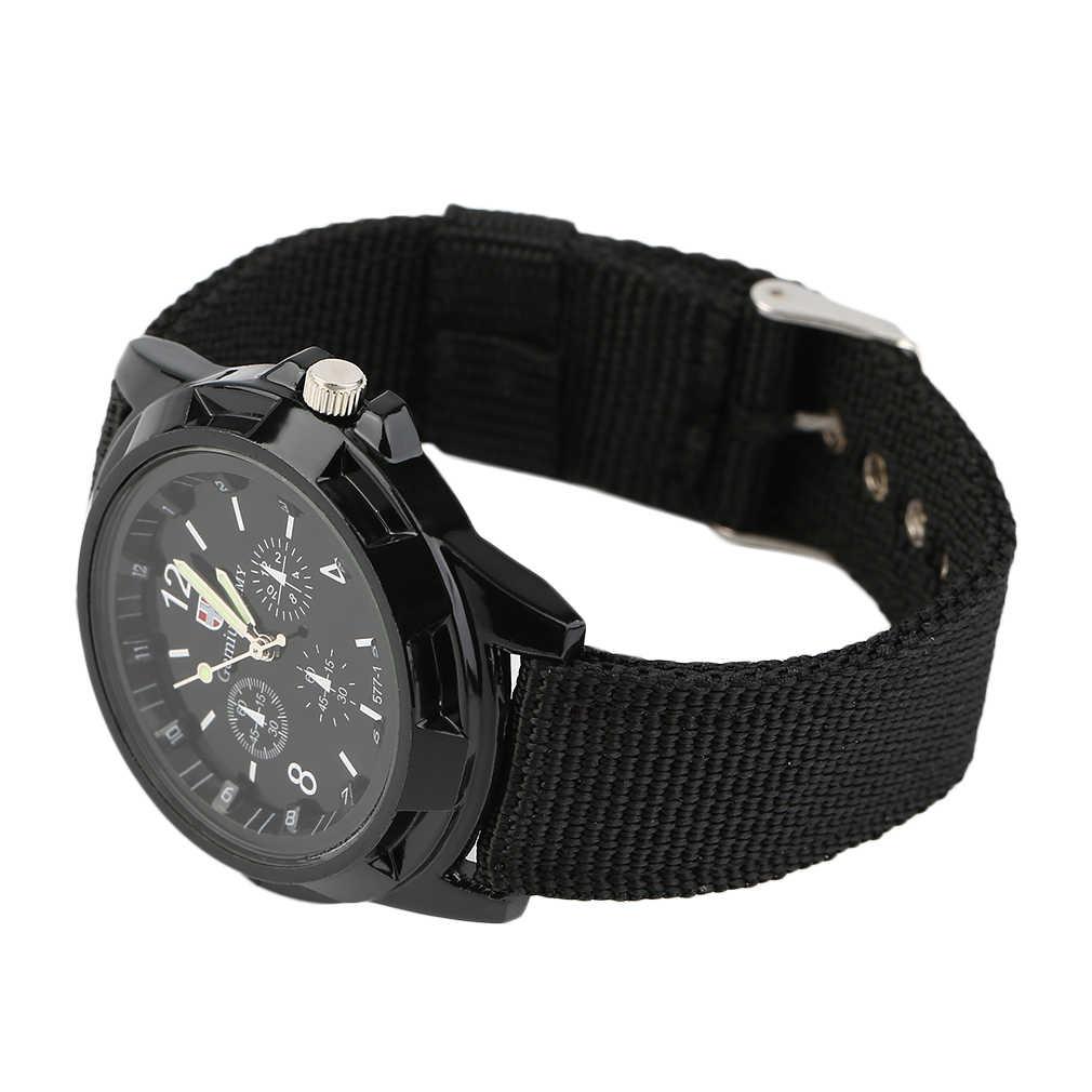 GENBOLI 1pcs Unisex ชาย Luminous Quartz นาฬิกาข้อมือเข็มขัดกองทัพทหารกีฬาสไตล์ Relogio