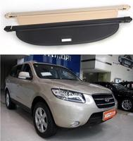 High Quality Rear Trunk Security Screen Privacy Shield Cargo Cover For Hyundai Santa Fe 2007 2008 2009 2010 (Black Beige)